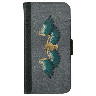 Steampunk Mechanical Wings Grey iPhone 6 Wallet Case