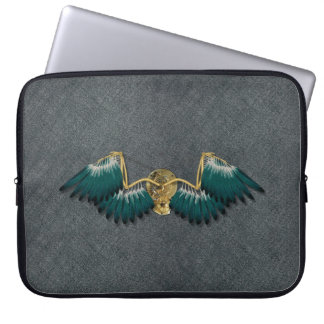 Steampunk Mechanical Wings Grey Laptop Sleeve