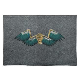 Steampunk Mechanical Wings Grey Placemat