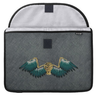 Steampunk Mechanical Wings Grey Sleeve For MacBook Pro
