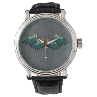 Steampunk Mechanical Wings Grey Watch