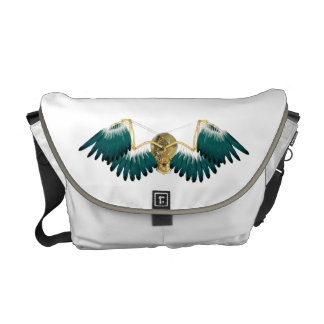 Steampunk Mechanical Wings Messenger Bag