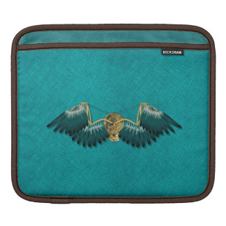 Steampunk Mechanical Wings Teal iPad Sleeve