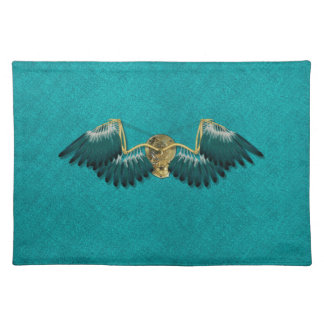 Steampunk Mechanical Wings Teal Placemat