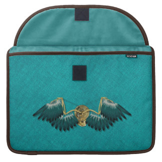 Steampunk Mechanical Wings Teal Sleeve For MacBook Pro