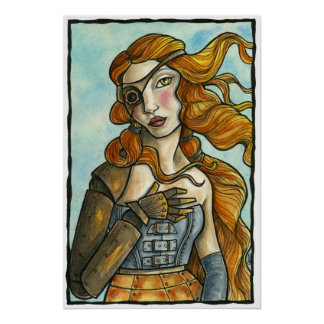 STEAMPUNK MEETS BOTTICELLI POSTER