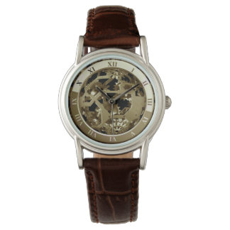 Steampunk Metal Clock Gears Abstract Watches