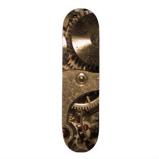 Steampunk Metal Clock Gears Skateboard Deck