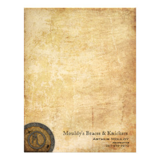 Steampunk Monogram Antique M Letterhead