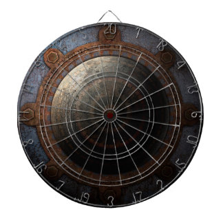 Steampunk Moon Clock Time Metal Gears Dartboard