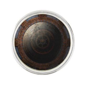 Steampunk Moon Clock Time Metal Gears Lapel Pin