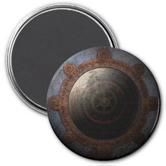 Steampunk Moon Clock Time Metal Gears Magnet