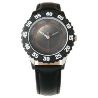 Steampunk Moon Clock Time Metal Gears Wrist Watches