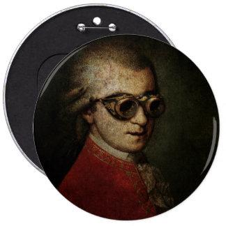 Steampunk Mozart 6 Inch Round Button
