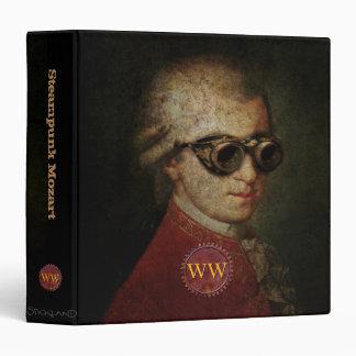 Steampunk Mozart Classical Music Monogrammed Vinyl Binder