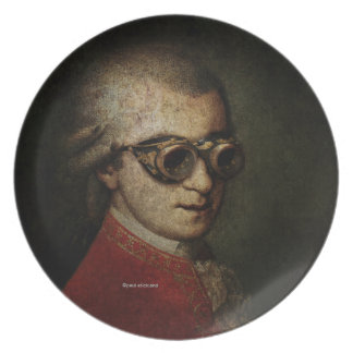 Steampunk Mozart Plate