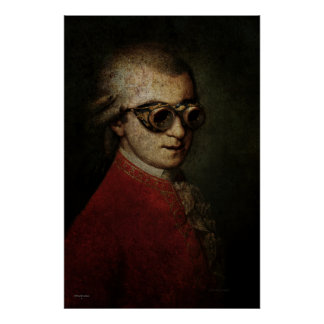 Steampunk Mozart Poster