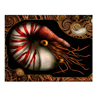 Steampunk - Nautilus - Coming out of your shell Post Cards