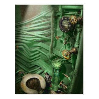 Steampunk - Naval - Plumbing - The head Postcard