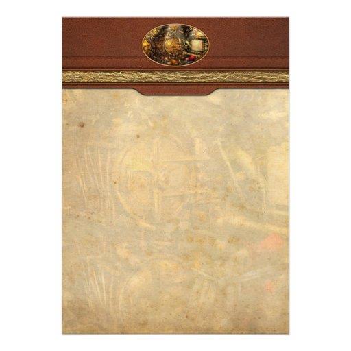 Steampunk - Naval - The torpedo room Custom Invitations