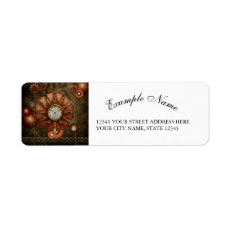 Steampunk, noble design return address label