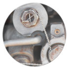 Steampunk nuts and bolts with wire plate