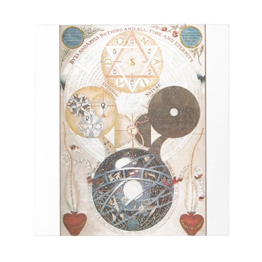 Steampunk Occult Star of David Notepad