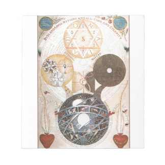 Steampunk Occult Star of David Notepads