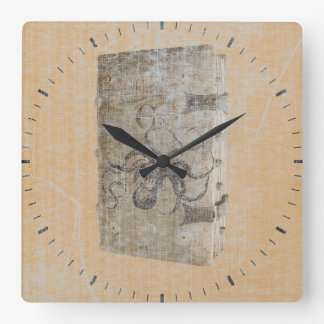 Steampunk Octopus Diary Square Wall Clock
