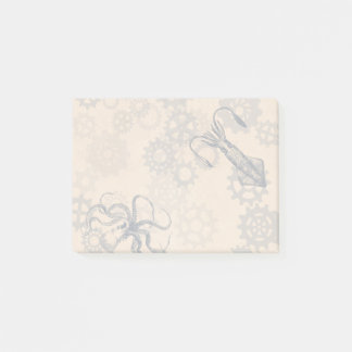 Steampunk octopus Post it notes