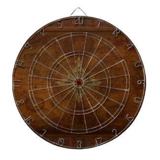 Steampunk Old World Map & Compass Rose Design Dartboard