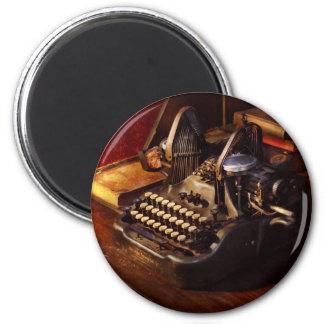 Steampunk - Oliver's typing machine 2 Inch Round Magnet