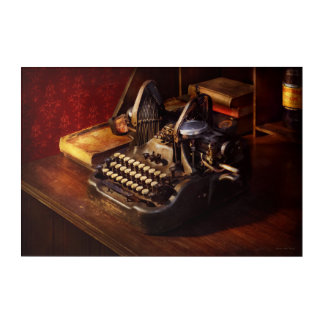 Steampunk - Oliver's typing machine Acrylic Print