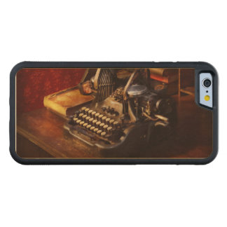 Steampunk - Oliver's typing machine Carved Maple iPhone 6 Bumper Case