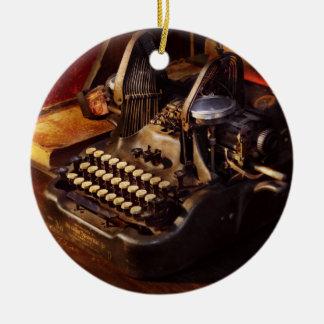 Steampunk - Oliver's typing machine Ceramic Ornament