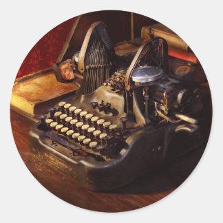 Steampunk - Oliver's typing machine Classic Round Sticker