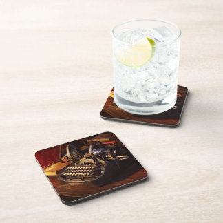 Steampunk - Oliver's typing machine Drink Coasters