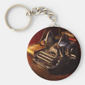 Steampunk - Oliver's typing machine Keychain