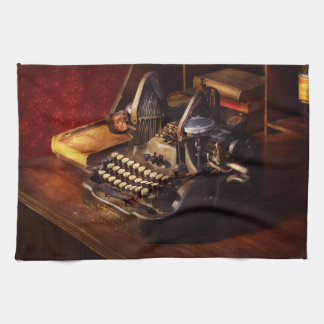 Steampunk - Oliver's typing machine Kitchen Towel