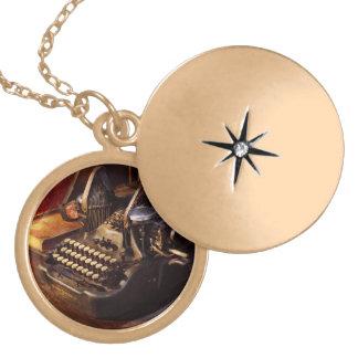Steampunk - Oliver's typing machine Locket Necklace