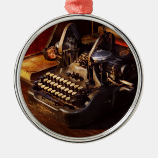 Steampunk - Oliver's typing machine Metal Ornament