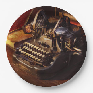 Steampunk - Oliver's typing machine Paper Plate