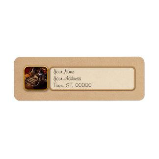 Steampunk - Oliver's typing machine Return Address Label