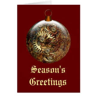 Steampunk Ornament Holiday Card