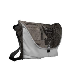 Steampunk Owl Rickshaw Messenger Bag