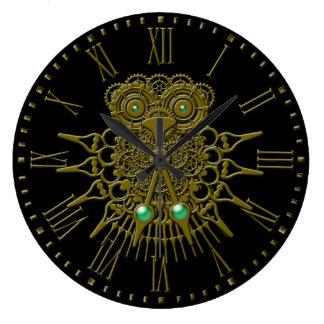 Steampunk Owl Wall Clock