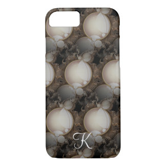 Steampunk Pearls on Black Monogram iPhone 8/7 Case