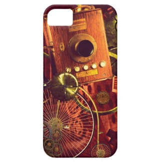 Steampunk penny-farthing bicycle antique phone iPhone 5 case