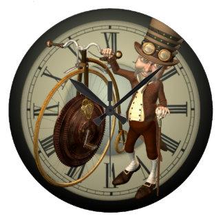 Steampunk Penny Farthing Clocks