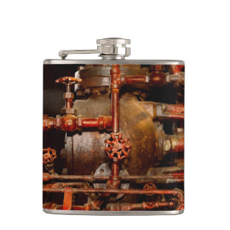 Steampunk - Pipe dreams Hip Flask